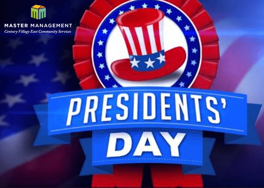 Master Management Office closed Monday, Feb. 17th for Presidents' Day