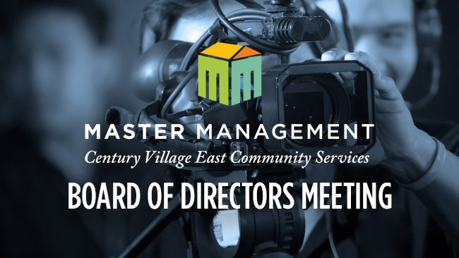 Master Management Board of Directors Meeting: March 19, 2020